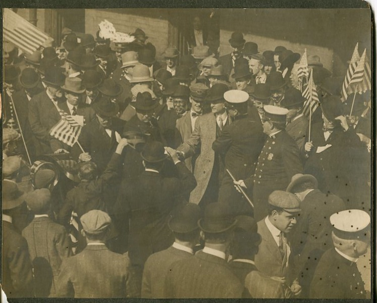 Theodore Roosevelt Photograph / Campaigning In 1912. Somewhere along the Bull Moose Campaign Trail