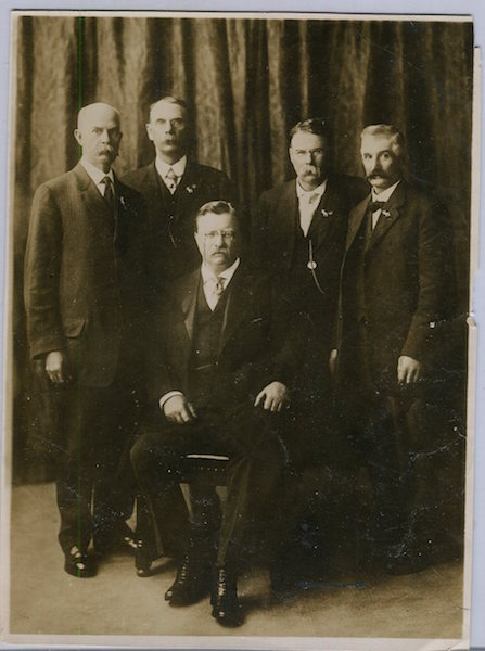 Photograph Of Theodore Roosevelt And The Other Delegates To The First Progressive National Convention, Chicago 1912. Theodore Roosevelt, Moffett Studios.