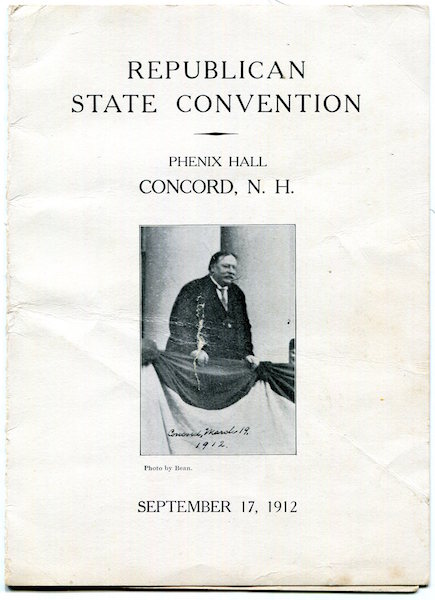 Republican State Convention, Setember 17,1912. Theodore Roosevelt.