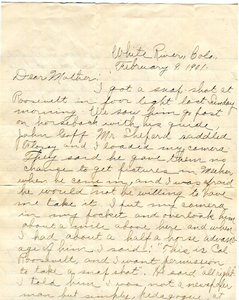 An Autographed Letter, Signed. Theodore Roosevelt, Arthur ???