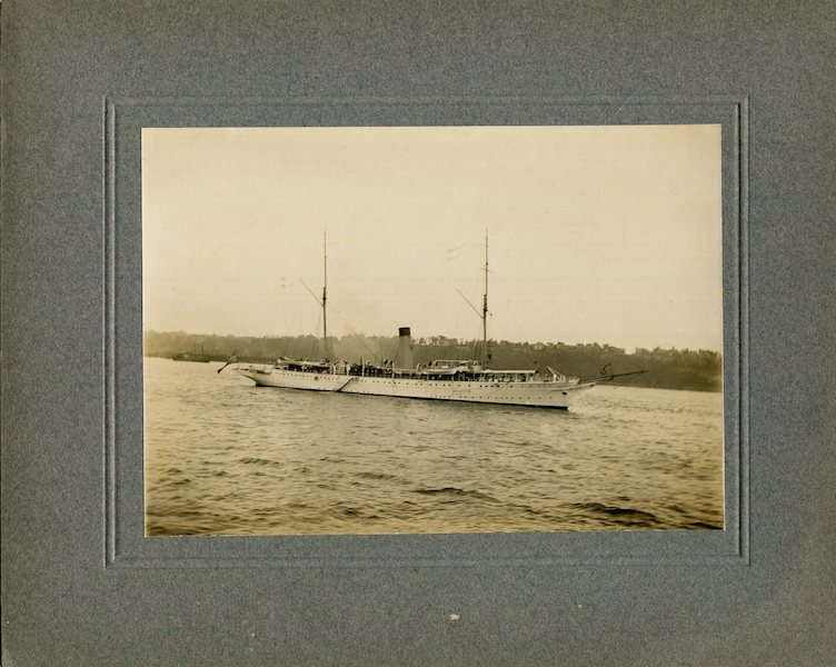 Original Period Photograph Of The Mayflower; President Theodore Roosevelt's Presidential Yacht. Theodore Roosevelt.