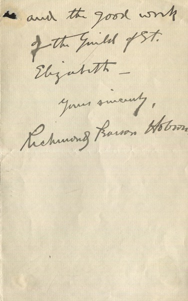 Richard Pearson Hobson, (Als) Autographed letter, signed. Richard Pearson Hobson.