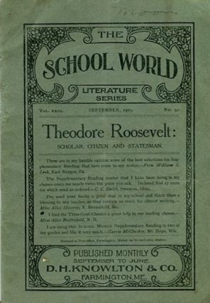 Theodore Roosevelt Scholar, Citizen And Statesman
