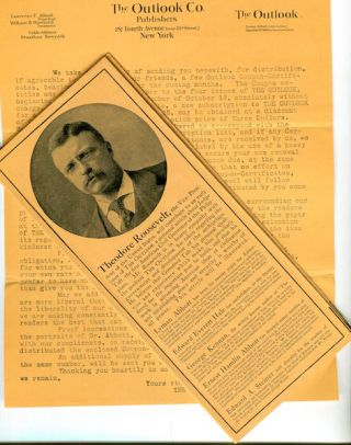 Subscription Coupons) The Outlook Magazine. Theodore Roosevelt