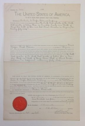 Theodore Roosevelt. Document Signed With A Secretarial Signature. U. S. Government / Santa Fe...