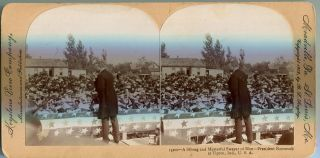 Stereo View Of President Roosevelt A Strong And Masterful Swayer Of Men - At Tipton Indiana....