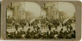 Stereo View Of The Inauguration Of President Roosevelt March 4, 1905, The President In The Big...