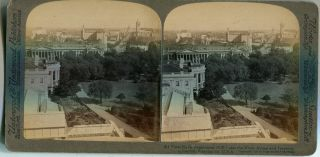Stereo View From Navy Dept. (S.E) Past The White House And Treasury To Capitol, Washington D.C....