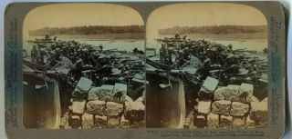 "Stereo View ""Wait Till You Can See The Whites Of Their Eyes Boys""; Co. G, Washington Vols,..."