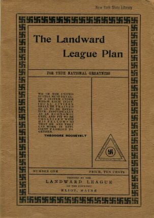 The Landward League Plan For True National Greatness No. 1. R. G. E