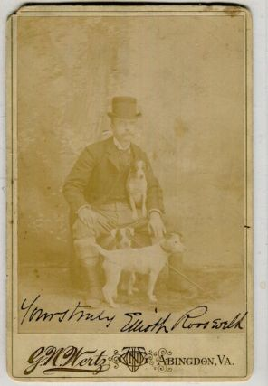 Signed Photograph) Elliott Roosevelt (1860-1894). Signed Cabinet Card