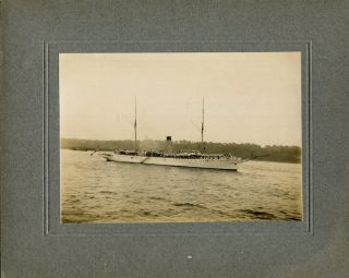 Original Period Photograph Of The Mayflower; President Theodore Roosevelt's Presidential Yacht....